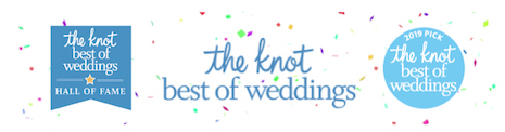 "Vows From the Heart has been awarded The Knot's ""Best Of Weddings 2019"" and has been inducted into The Knot's ""Best Of Weddings Hall Of Fame"""